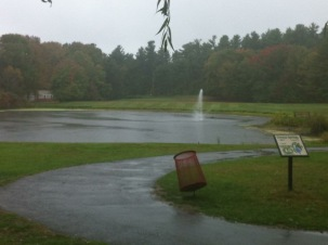 "The same ""pond"" on 15 during the epic rain match of September 2012."