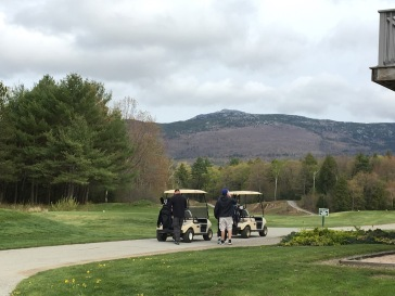 A view of Mt. Monadnock from the first tee.