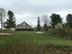 Looking up at the back of the clubhouse from the 9th fairway.