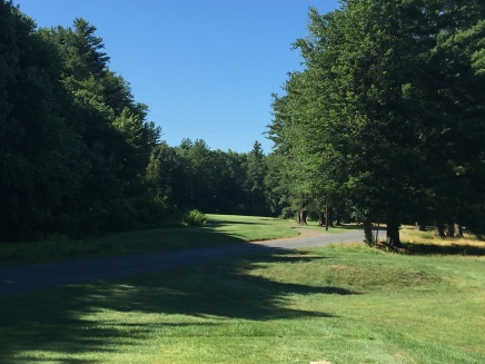 View from the second tee, stay low or risk glancing off the power lines... it happens.