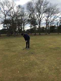 Steven Putting on 18 - Falmouth CC